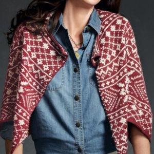 CAbi Nordic Wool Blend Shrug Cropped Sweater